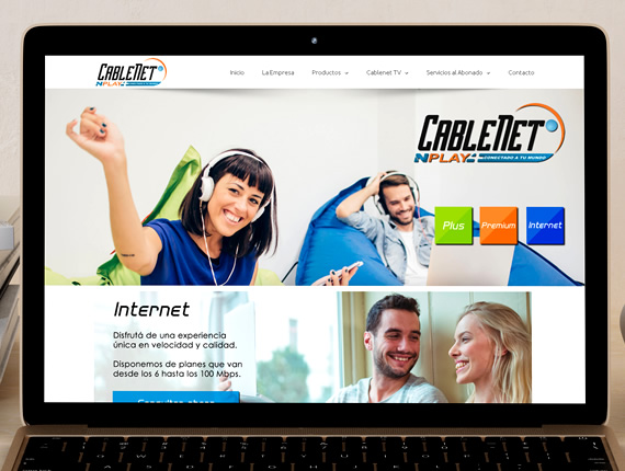 Cablenet TV. Sitio Web